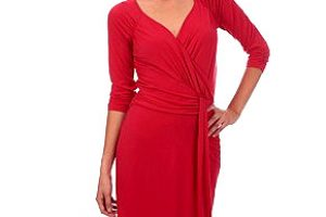 Robe morgan rouge courte