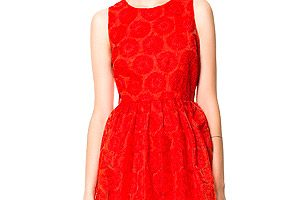 Robe Ceremonie Zara Rouge 2013