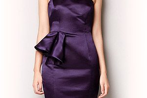 Robe de cocktail zara violette