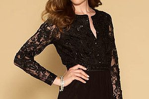 Robe de soiree noir monsoon