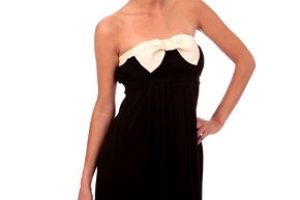 Robe noeud bustier