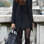 Robe courte moulante noire chic working girl